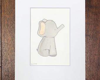 Baby Elephant Watercolor