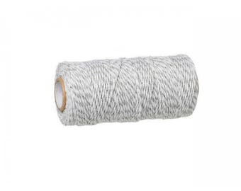 100 m spool Twine Baker's Twine Style gray and white