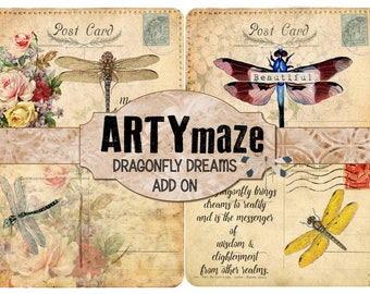 DRAGONFLY DREAMS  Journal ADD on   Instant download