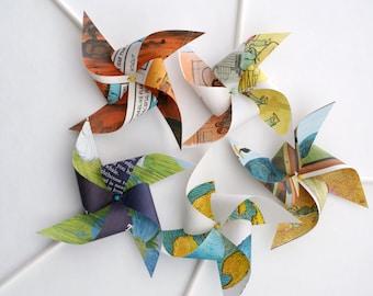 Set of children's book pinwheels, multicolor