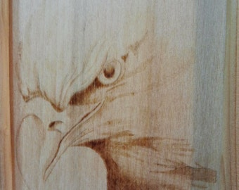 Eagle, Quadro pyrography on wood