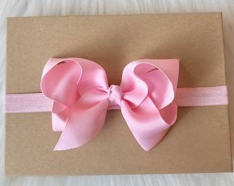 Pink Bow Headband, Big Bow Headband, Baby Headband, Newborn Headband, Bow Headband, Baby Bow Headband, Toddler Headband, Infant Headband