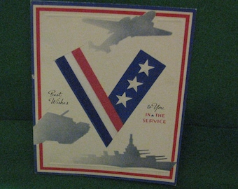 WWII Vintage Greeting Card