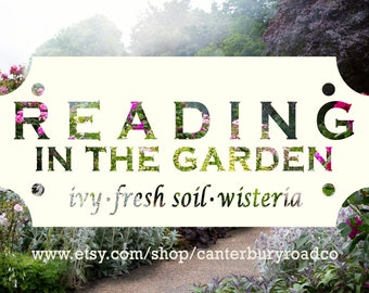 Soy Candles | Reading In The Garden | Bookish Scent | Garden Reading | Book Candle | Book Lover Gift | Bookish Gift | Canterbury Road Co