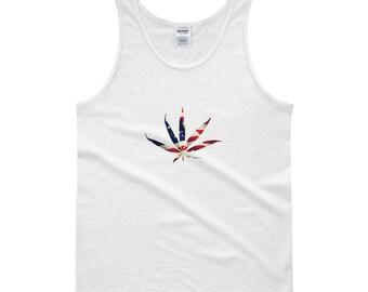 USA Weed Tank top, Pot leaf tank top, mj, weed top, weed shirt