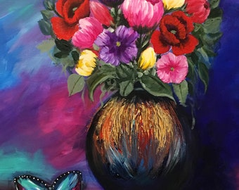 Enchanted Garden Flower painting