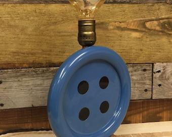 Handmade Blue button lamp