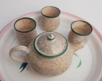 Speckled Pottery Teapot
