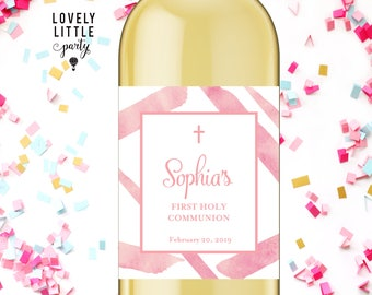 First Communion wine labels, Baptism wine labels, Dedication wine labels - style 125G