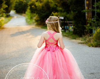 NEW! The Olivia Dress in Coral Peach - Flower Girl Dress