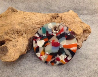 Tutti Fruiti Multi Coloured Fused Glass Pendant