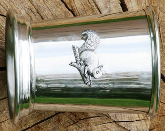 Julep Cup English Pewter Squirell Emblem Shooting Gift