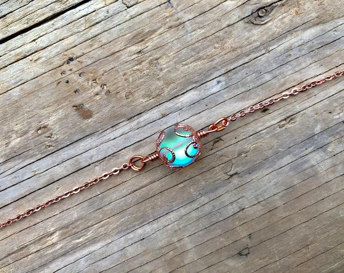 ARIANNA: rose gold aura necklace
