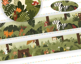 1 Roll of Limited Edition Washi Tape:  Animal in the Forrest