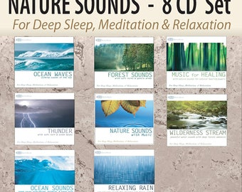 NATURE SOUNDS 8 CD Set: Ocean Waves, Forest Sounds, Thunder Sounds, Rain, Wilderness Stream, and more! (Sounds of Nature)