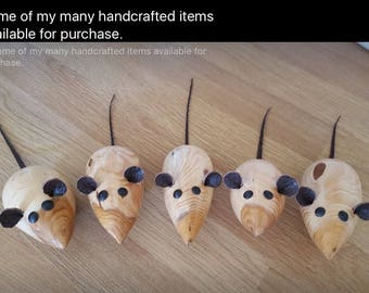 Ideal gift with a cheeseboard. Handmade wooden mice