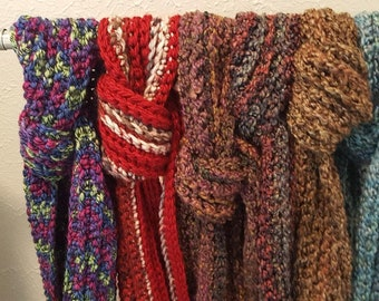 Hand Crocheted Winter Scarves