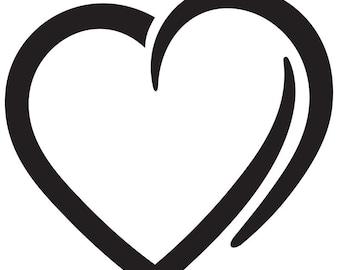Open Heart Vinyl Decal