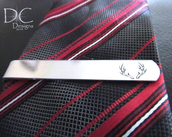 Hunting Tie Clip, Deer Hunting, Hunting Gift, Personalized Tie Bar, Custom Tie Clip, Gift for Boyfriend, Gift for Fiance, Bestman Gift