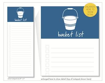 bucket list // notepad  // blue // to do // list // checkbox // lines // skel // skel design // skel & co