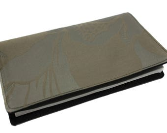 beige taupe fabric checkbook cover single model