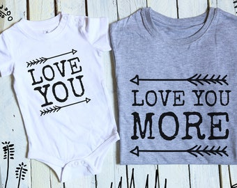 Love You More/ Mommy and Me Outfits/ Love Baby/ Matching Mother Daughter Outfits/ Mom and Baby Matching/ Mother Son Shirts/ Matching Outfits