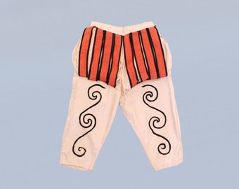 RARE 1920s/30s Costume Pants / 'Shakespeare' Paned Stage Pants / Medieval / Renaissance Breeches