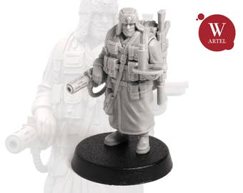 "28mm wargaming and collectible miniature, Officer Aide by ""W"" Artel"