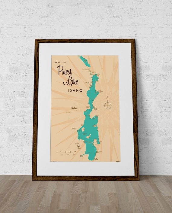 Priest Lake ID Map Print