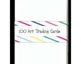 """100 White ACEO ATC BLANK Cards 2-1/2""""x3-1/2"""""""