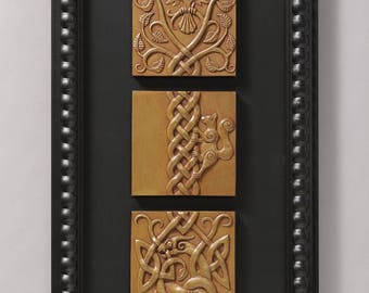 Ratatosk (Brass) Limited edition of 50 signed/numbered, framed sculptural reliefs by Aric Jorn.