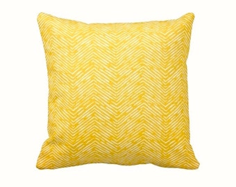 SALE | 50% OFF: 22x22 Pillow Cover Yellow Pillow Cover Yellow Throw Pillow Decorative Pillows for Couch Yellow Cushions Herringbone Pillow