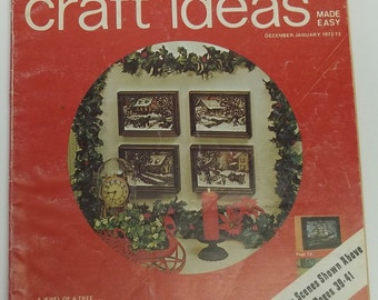 Vintage crafting magazine,Decorating and Craft Ideas Made Easy magazine, December-January 1972-1973,decorating magazine,Christmas crafting
