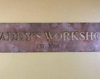METAL DADDYS WORKSHOP  sign