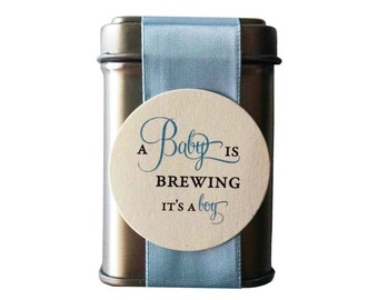 DIY A Baby is Brewing Tin Favors for a Boy Baby Shower - unassembled option