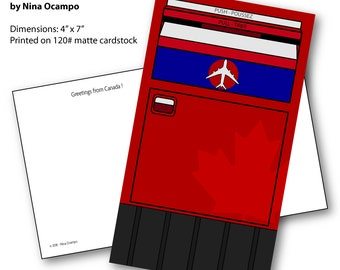 Canada Post Mailbox - inspired postcard
