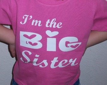 Custom I'm the big sister shirt, pregnancy announcement shirt, pregnancy reveal to grandparents, big sister shirt announcement, best selling