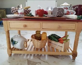 mini doll furniture. Mini Doll Furniture. Reutter Porzellan Miniature Dollhouse Furniture Appetizer Serving Table Scale 1/12