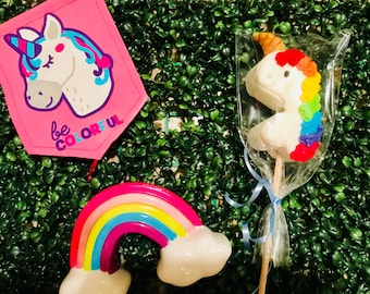 Unicorn marshmallow lollipop