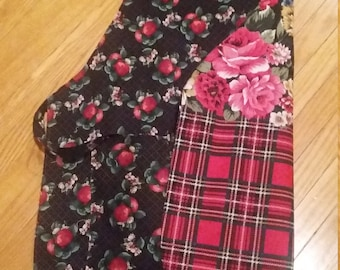 Apples and Plaid Reversible Aprons