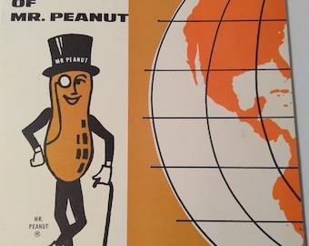 Vintage 1967 Mr. Peanut The Complete World of Mr. Peanut includes History, Recipes, Peanut Butter, Peanut Oil