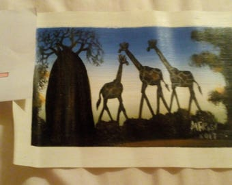 Small Malawian Wildlife Paintings