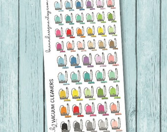 Vacuum Icons, Canister Vacuums, Cleaning Day Stickers, Chore Reminders, Icon Planner Stickers