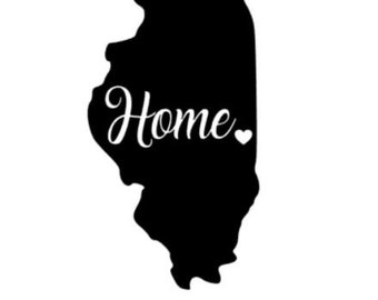 Illinois Home Decal