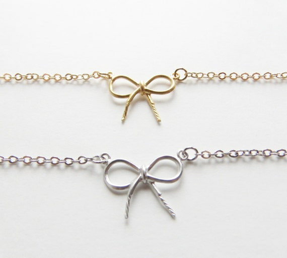 Bow Bracelet | Bow Bracelet | Gold Bow Bracelet | Small Bow Bracelet | Dainty Bracelet | Simple Bracelet | Boho Jewelry | Gift For Her