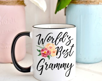 World's Best Grammy Mug, Coffee Mug, Grammy Mug, Birthday Gift,  Mother's Day Mug, Christmas Gift For Grammy, Gift For Grandma, Grammy Mug