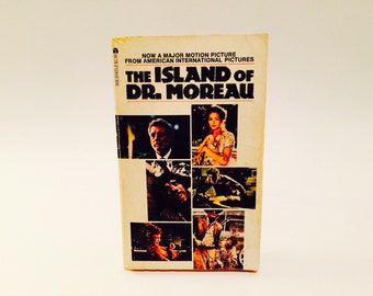 Vintage Sci Fi Book The Island of Dr. Moreau by H.G. Wells 1977 Movie Tie-In Edition Paperback