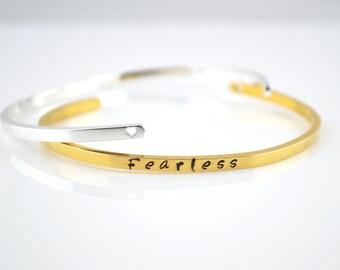 Slim Bracelet, Personalised Gold Plated Bracelet, Cuff Bracelet,Handstamped Skinny Bracelet, Personalised Bracelet, Personalised Jewellery