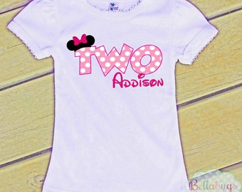 Minnie Mouse Birthday Tshirt - Girl Shirt - Minnie - Disney - Personalized