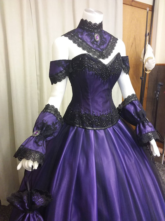 Items similar to Free shipping, Venice ball gown, Steampunk dress ...
